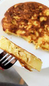 omlet szarlotka